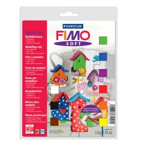 Staedtler Modelliermasse FIMO® soft Basis-Set - Kunststoff, 9 x 25 g, sortiert