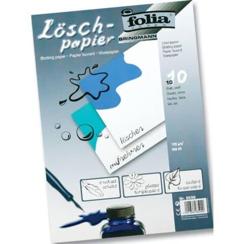 Folia Löschpapier 120g/qm, DIN A4, 10 Blatt