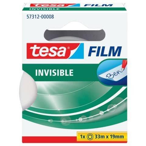 Tesa Klebefilm matt-unsichtbar - beschriftbar, (L x B): 33 m x 19 mm