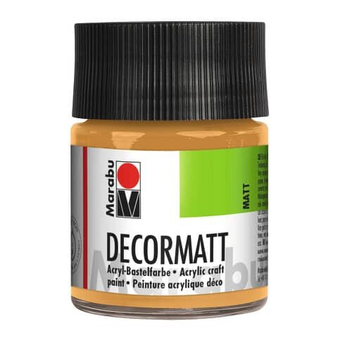 Marabu Decormatt Acryl, Metallic-Gold 784, 50 ml