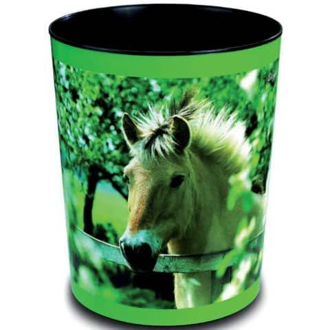 Läufer Papierkorb - 13 L, Pferd am Zaun