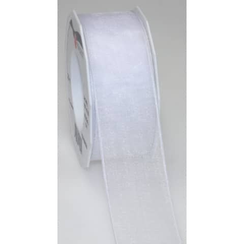 Organzaband DK - 40 mm x 25 m, weiß