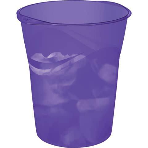 Cep Papierkorb Happy - violett, Ř min/max: 290/305 / 334 mm hoch