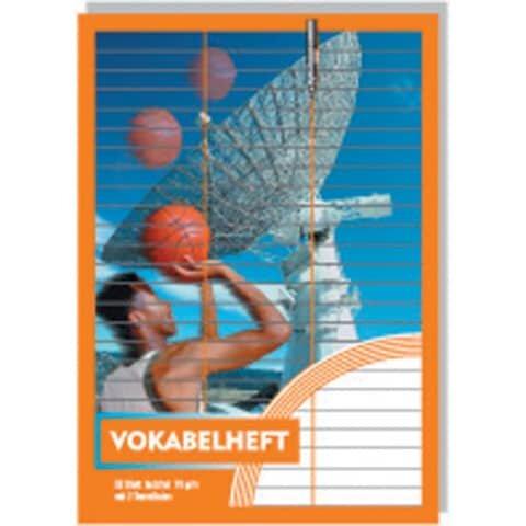 Penig Vokabelheft - A5, 32 Blatt, 2 Trennlinie