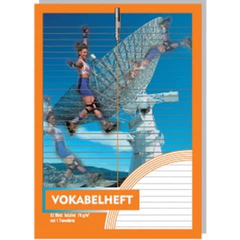 Penig Vokabelheft - A4, 32 Blatt, 1 Trennlinie