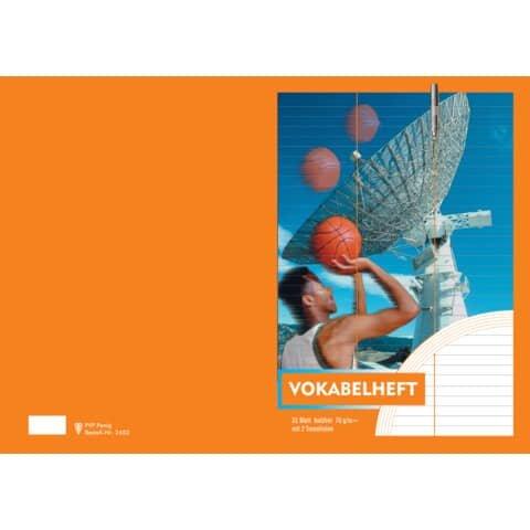 Penig Vokabelheft - A4, 32 Blatt, 2 Trennlinie