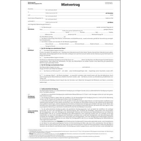 Sigel Mietvertrag ehemals Einheitsmietvertrag - A4, 4 seitig