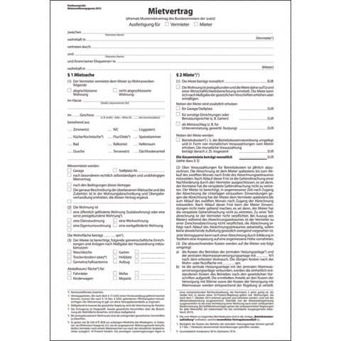 Sigel Mietvertrag ehemals Mustermietvertrag - A4, 6 seitig