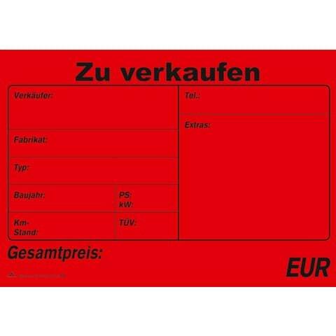 Rnk Kaufvertrag für ein gebr. Kfz - SD, 1x4 Blatt, DIN A4, mit Verkaufsplakat