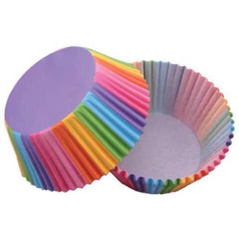 Backförmchen Cupcake - Ř 50 mm, 50 Stück, Regenbogen
