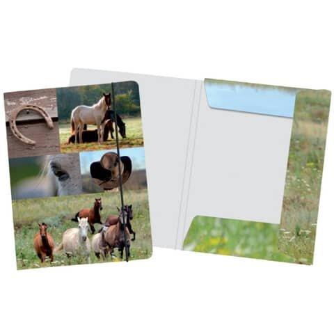 Pferde Collage Sammelmappe Pferde - A4
