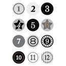 Herma 15255 Sticker DECOR Adventskalendersticker 1-24 -...