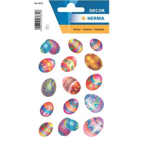 Herma 3672 Sticker DECOR Ostereier, beglimmert