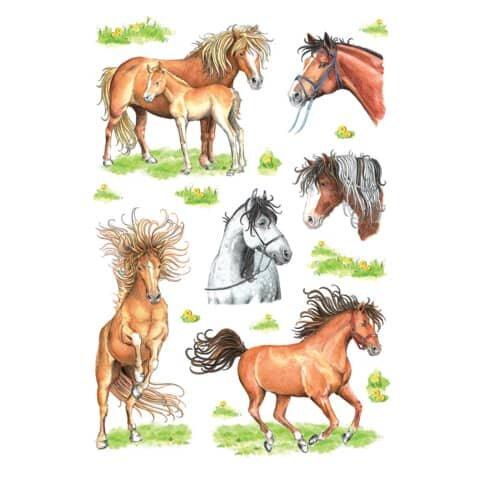 Herma 3307 Sticker DECOR Gezeichnete Pferde