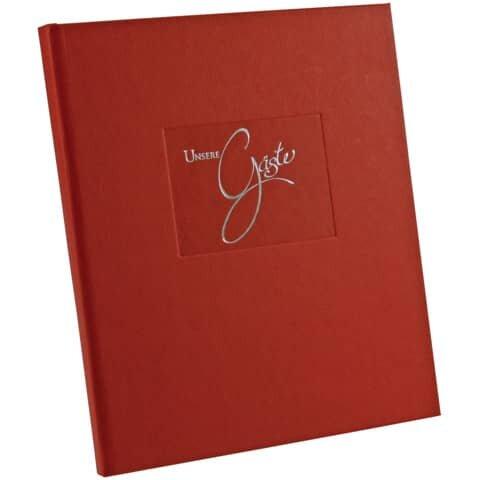 Goldbuch Gästebuch Seda rot