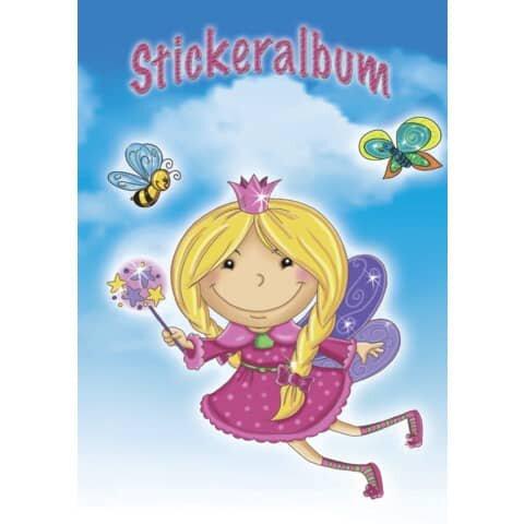Avery Zweckform Z-Design 57798, Kinder Sticker Sammelalbum A5, Prinzessin