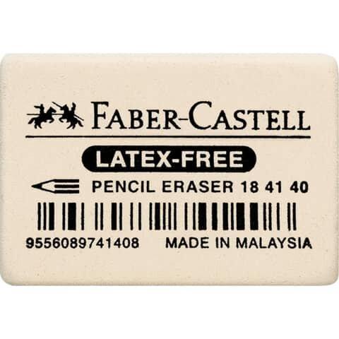 Faber Castell Radiergummi 7041-40 - 34 x 26 x 8mm, weich, weiß