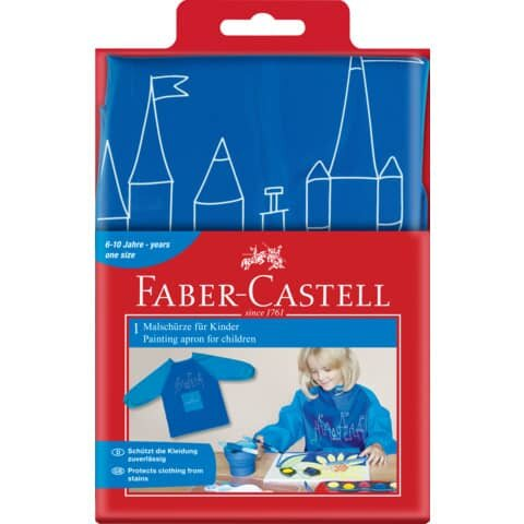 Faber Castell Malschürze blau