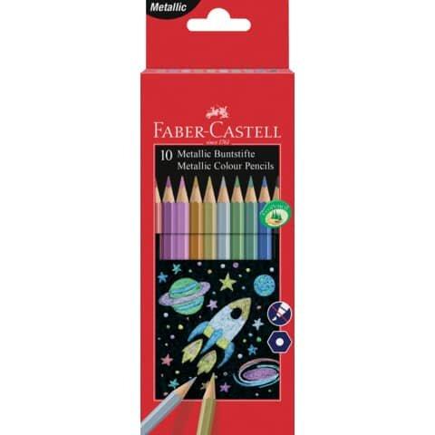 Faber Castell Buntstift - 10 Farben metallic