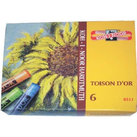 Koh-I-Noor Pastellkreide - 6 Farben