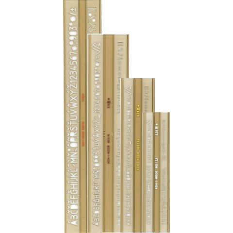 Koh-I-Noor Schriftschablone - 5er Set nach ISO 309