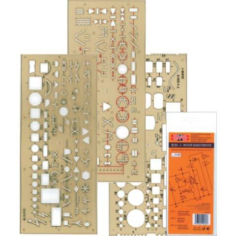 Koh-I-Noor Schablone Elektro - 3er Set