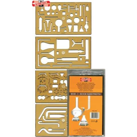 Koh-I-Noor Schablone Chemie - 4er Set