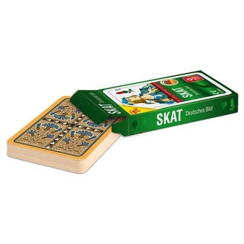 Ass Spielkarten Skat (deutsches Bild)