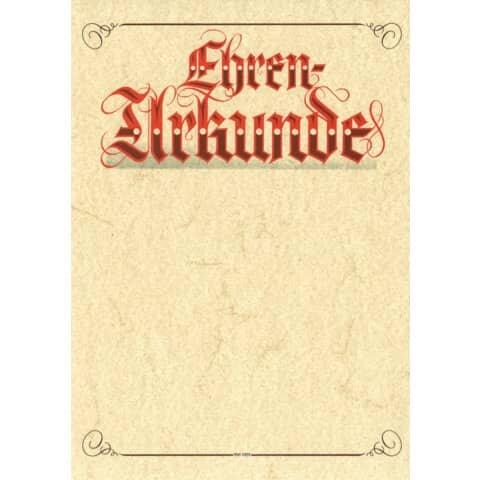 Rnk Urkunde Aufschrift 'Ehren-Urkunde' (Elefantenhautpapier), 190g/qm, weiß, DIN A4