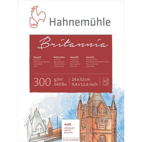 Hahnemühle Aquarellblock - 24 x 32 cm, 300 g/qm, 12 Blatt