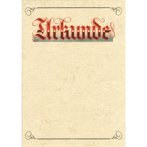 Rnk Urkunde Aufschrift 'Urkunde' (Elefantenhautpapier), 190g/qm, weiß, DIN A3