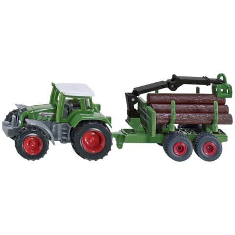 Siku Traktor mit Forstanhänger, Nr. 1645