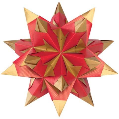 Folia Bascetta Stern - rot/gold, Ř 20 cm