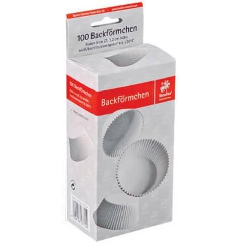 Demmler Back- und Pralinenförmchen - Ř 50 mm, weiß, 100 Stück