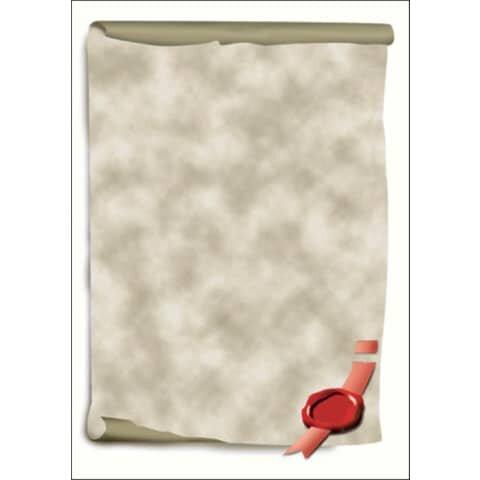Sigel Motiv-Papier, Urkundenrolle, A4, 185 g/qm, 12 Blatt