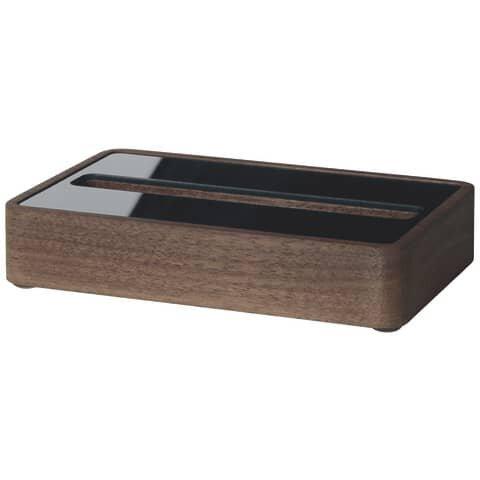 Sigel Visitenkarten-Aufsteller - Walnuss Holz/Acryl, 30 Karten max. 90 x 60 mm