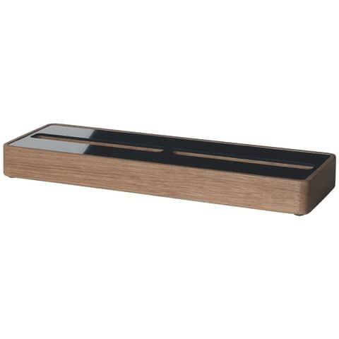 Sigel Visitenkarten-Aufsteller - Eiche Holz/Acryl 60 Karten max. 90 x 60 mm
