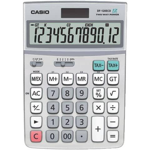 Casio Öko-Tischrechner DF-120 ECO