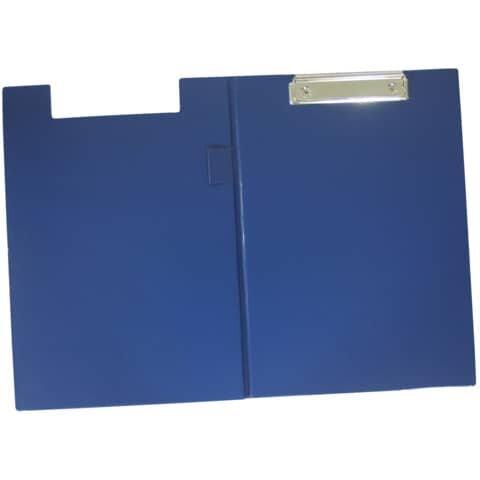 Q-Connect Klemm-Mappe mit Folienüberzug - blau
