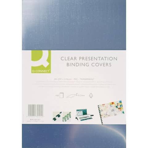 Q-Connect Umschlagfolie, A4, 0,25 mm, 100 Stück