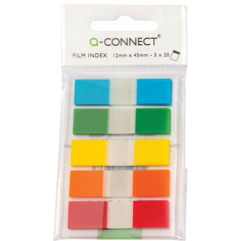 Q-Connect Index Mini - 12,5 x 43 mm, 5 x 20 Streifen