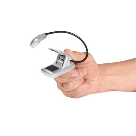 Wedo Leselampe - mobil, silber, LED mit Batterien