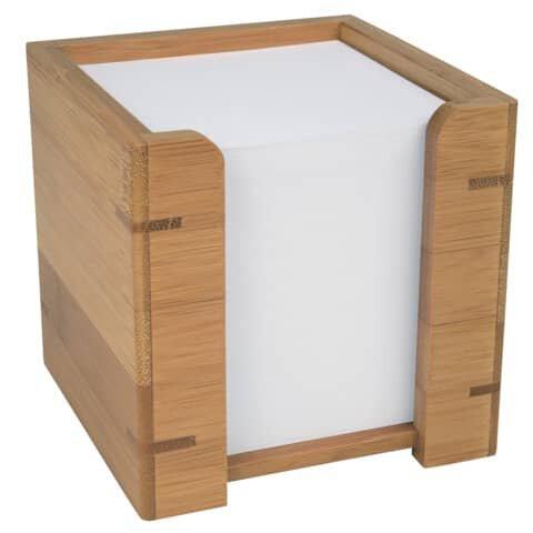 Wedo Zettelbox mit Papier - Bambus