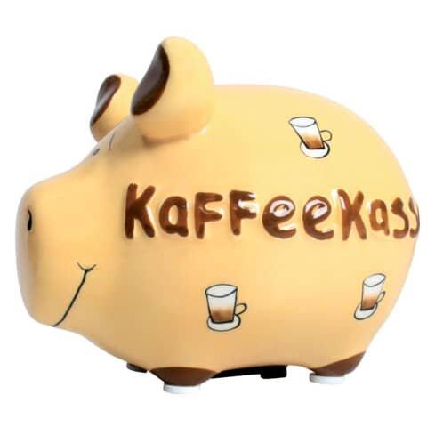KCG Spardose Schwein 'Kaffeekasse' - Keramik, klein