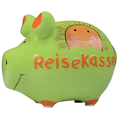 KCG Spardose Schwein 'Reisekasse' - Keramik, klein