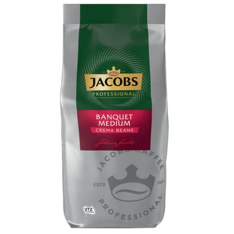 Jacobs Kaffee in Gastronomie Qualität - Bankett Caffee Crema, ganze Bohnen