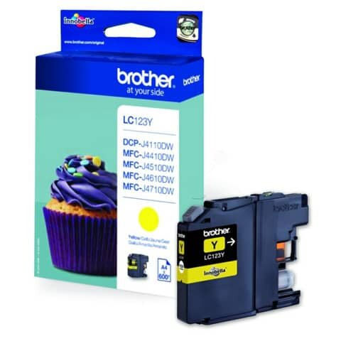 Brother® Inkjet-Druckpatronen yellow, 600 Seiten, LC123Y