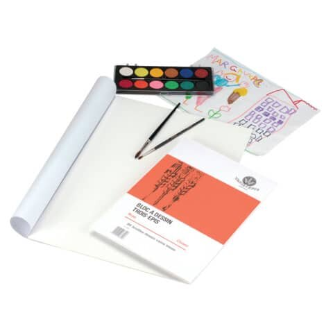 Zeichenblock - A4, 20 Blatt, 110 g/qm