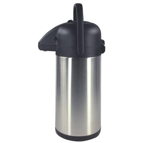 Pump-Thermoskanne - 2,5 Liter, Edelstahl