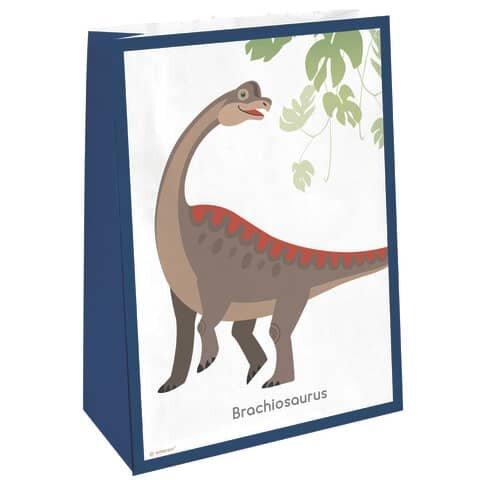 Happy Dinosaur Partytüte Dinosaurier - 8 Stück mit Sticker